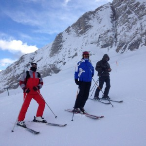 Guided alpine skiing tours!