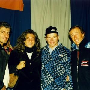 Alberto Tomba e Mark Girardelli