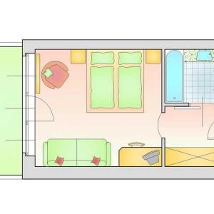 Alpen Room - 24+6 m2 Balkon