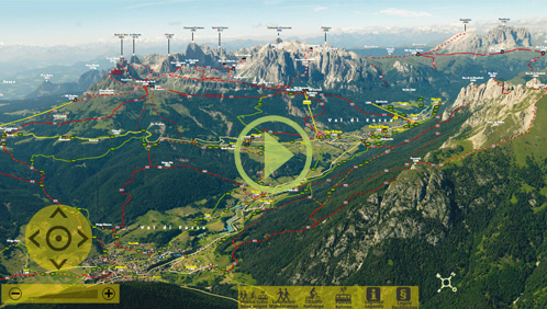 Mappa estiva Val di Fassa