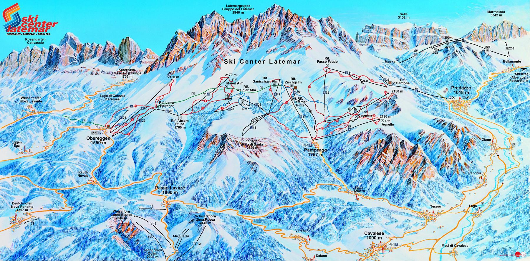 Mappa Obereggen